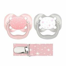 Dr. Brown's Advantage Pacifier with Pacifier Clip, 0-6M, Pin