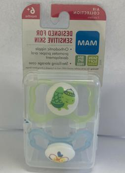 MAM Glow In the Dark Sensitive Skin Pacifiers, Baby Pacifier