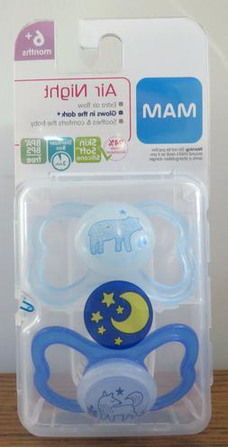 Mam Air Night Silicone Glow-In-The-Dark Pacifier - 6+ Months