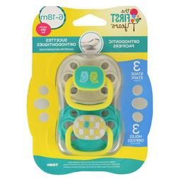 The First Years Animal Print Orthodontic Pacifier, 2 Pack, S