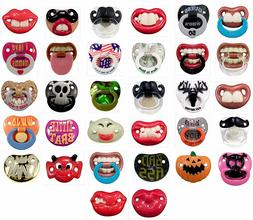 6 Pack- 6 Assorted Billy Bob Teeth Baby Pacifiers, Includes