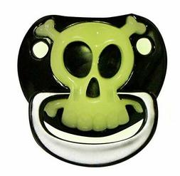 Pacifier Billy Bob Pirate Black & Skull
