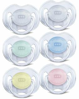 Avent - 0-6 Month Classic Translucent Soothers Dummies - Cho