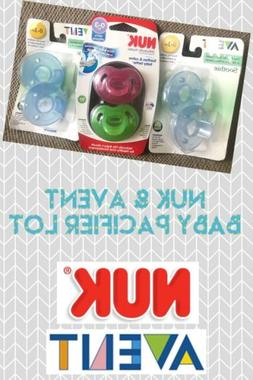 Lot of 3 Avent & NUK Baby Pacifiers 0-3 Months Boy Or Girl *