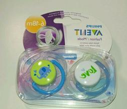 Philips Avent Fashion/Mode Baby Boy Elephant Pacifiers, 6-18