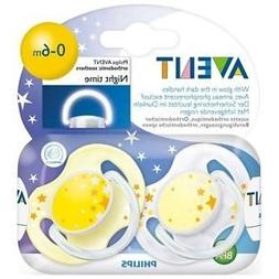 Philips Avent 0-6 Months Glow in the Dark Night Time Soother