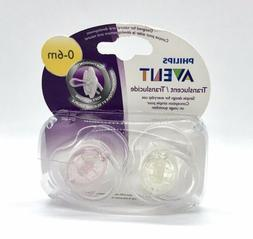 Philips Avent Orthodontic Pacifier, 0-6 Months 2 Pack