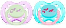 Avent Fashion Infant Pacifier - 0-6 months - 2 Pk - Girl
