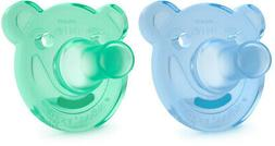 Philips Avent Soothie Pacifier, 3+ months, Green/Blue, Bear