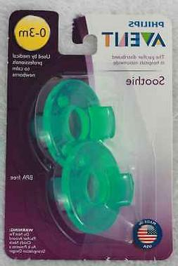 PHILIPS AVENT Soothie Pacifiers  0-3 Months Green Made in US