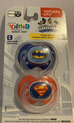 Playtex Baby Binky Classic 2 Pack Silicone Pacifiers O-6 Mon