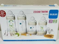 MAM Baby Bottle Gift Set, 9 pc w/ Pacifier and Brush