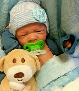BABY BOY 14 IN PREEMIE  REAL BOY LIFELIKE    WITH PACIFIER A