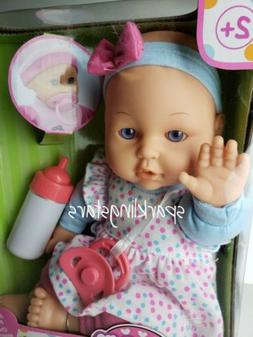 Baby Doll with pacifier and baby bottle Girl Kids Toddler Cu