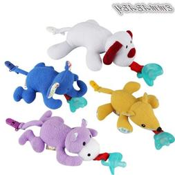Baby Dummy Pacifier Chain Clip Animal Plush Soother Toys Plu