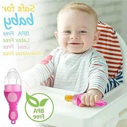 Baby Food Feeder Pacifier Ice Cream Shape Silicone Teether S
