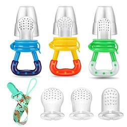 PandaEar Baby Fresh Fruit Food Feeder Nibbler Pacifier 3 Pac