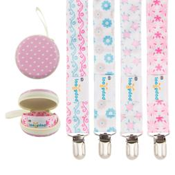 baby girl pacifier clips with pacifier case