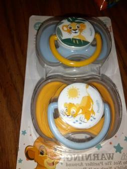 Disney baby Lion King 2-pack Pacifiers w/cover  In Box