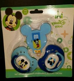 DISNEY BABY MICKEY MOUSE 3 PACK SET 2 ORTHODONTIC PACIFIER B