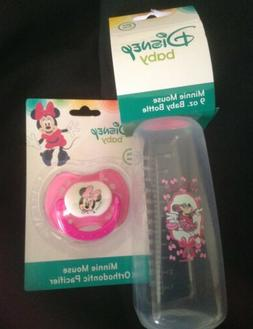 Disney Baby Minnie Mouse 9oz. Baby Bottle & Pacifier Set Sho