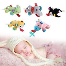 Baby Nipple Toys Pacifier Clips Lovely Stuffed Animals Hang