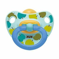 NUK Baby Pacifier 6-18 Months Latex Boy Apples Soother Toddl