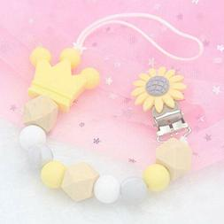 Baby Pacifier Clip Silicone Bead Chain Soother Dummy Nipple