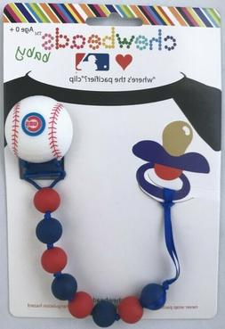 Chewbeads Baby Pacifier Clip Holder Silicone Safe Chicago Cu