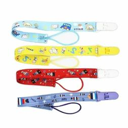 Baby Pacifier Clips Plastic Teething Clips for Boys and Girl