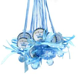 """Baby Pacifier """"Don't Say Baby"""" Crown Favor Necklace, Blue, 2"""