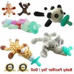 baby pacifier silicone pacifiers with plush toy