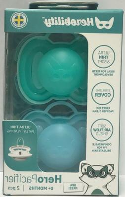 Baby Pacifiers by Herobility, 0m+, 2 Pack- Newborn, New