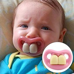 Baby Pink Funny Pacifier Nipple Infant Dummy Pacifier Silico