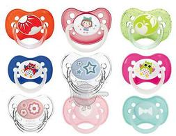 Baby Soother Dummy Orthodontic Symmetrical Round Teat Pacifi