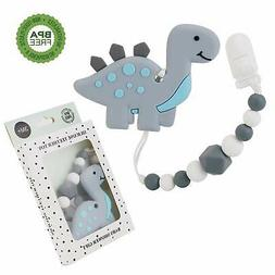 Slotic Baby Teething Toys Dinosaur Teether Pain Relief Toy w