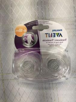 Philips Avent Baby Translucent Orthodontic Pacifier 2 Pack 6