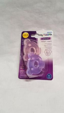 Philips Avent BEARS Soothie Pacifier, 0-3 months, Pink/Purpl