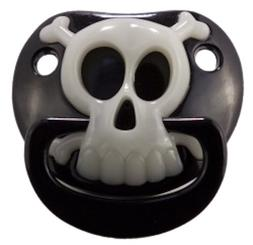 Billy Bob BLACK PIRATE SKULL PACIFIER Baby Pacifier 90049 Or