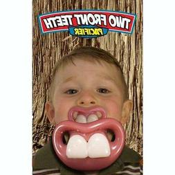 BILLY BOB TWO FRONT FAKE TEETH CHILDRENS PACIFIER novelty ba