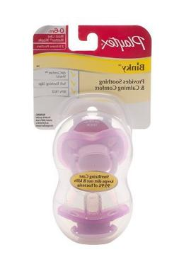 Playtex 2 Piece Binky Silicone Pacifier, Newborn