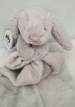 Infant Jellycat 'Grey Bunny Soother' Blanket