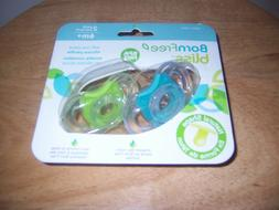 Born FREE   Bliss 0-6 months  blue green pacifiers shaped li