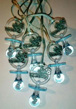 Blue Baby Shower Pacifier favors 24pcs for boy