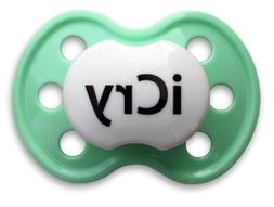 BooginHead iCry Light Green Pacifier