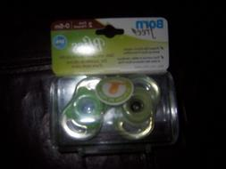 Born Free Bliss 0-6 months pacifiers  GREEN one package new