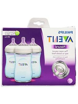 Philips Avent Natural 9oz 3-pack Bottle Set SCF693/39 - Blue
