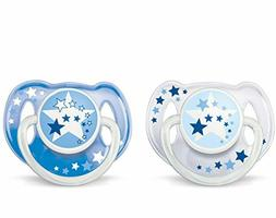 Philips AVENT BPA Free Night Time Pacifier, 6-18 Months, 2 C