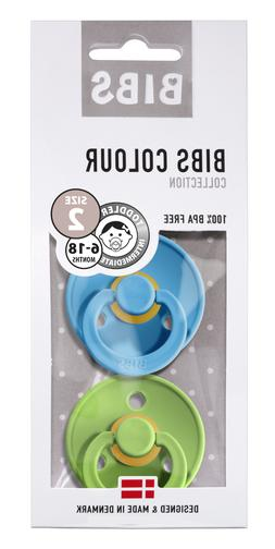 BPA Free BIBS Pacifier Natural Rubber 2pcs Size 2 Clear wate