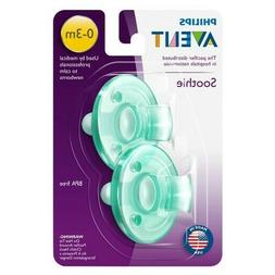 Philips Avent BPA Free Soothie Pacifier, 3+ months, Green, 2